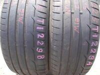 225/45/17 Dunlop x2 Pair 5mm (456 Barking Rd, E13 8HJ) Second Hand Winter Tyres 205 215 225 40 50 55