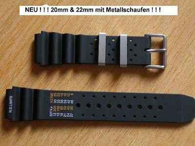 Armband für Citizen Pro, 20mm,  22mm, oder in 24mm mit Metallschlaufen