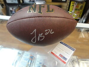 Le' Veon Bell Autographed Football Pittsburgh Steelers PSA/DNA