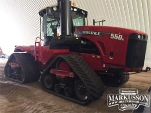 Versatile 550DT Tractor - Powershift, PTO, GPS, 110gpm Hyd. Pump