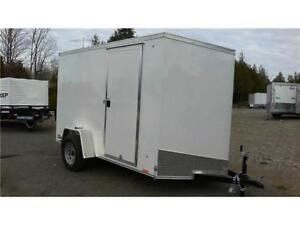 Enclosed Cargo Trailer - 5x10 with V-Nose & Extra Height