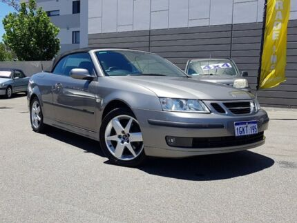 2008 Saab 9-3 MY08 Linear Sport 1.9TiD Silver 6 Speed Manual Convertible Victoria Park Victoria Park Area Preview