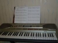 casio electric keyboard unwanted present,never used