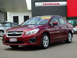 2013 Subaru Impreza G4 MY13 2.0i Lineartronic AWD Red 6 Speed Constant Variable Sedan Garbutt Townsville City Preview