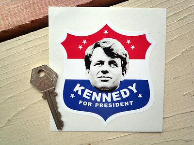 BOBBY KENNEDY FOR PRESIDENT CAR Bumper Shield Sticker 1960