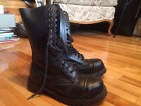 Black Leather 14 Eyelet Boots! $60 OR BEST OFFER
