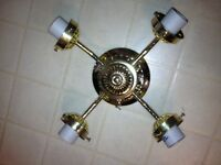 Fandango 4 light ceiling fixture with pull chain