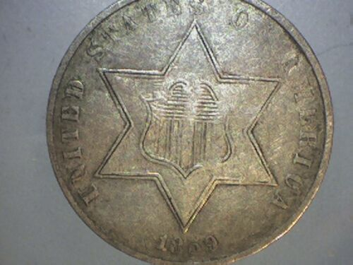 1859 III CENT SILVER   AW1