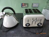 Morphy Richards Accents Traditional Kettle & 4 Slice Toaster-Used