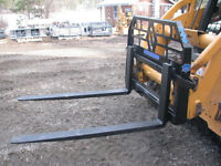 BOBCAT AND SKID STEER PALLET FORK ATTACHMENTS