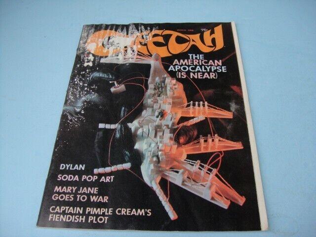 CHEETAH MAGAZINE VOL 1 # 6 MARCH 1968 BOB DYLAN SODA POP ART MARY JANE CULTURE
