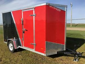 6x12' Enclosed Flat Top Wedge Trailer (RWT6x12SA)