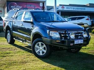 2013 Ford Ranger PX XLT Double Cab 4x2 Hi-Rider Grey 6 Speed Sports Automatic Utility Wangara Wanneroo Area Preview