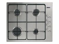 Zanussi - Gas Hob - 4 hobs - Stainless steel - Almost New
