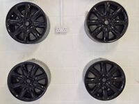 "Genuine BMW MINI Gloss Black 17"" Crown Alloys"