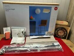 GADGETS & MORE ~ STOOL, CLOCK, TABLE RUNNER, FLOOR MAT, TABLECLOTH, 2 CAFE RODS