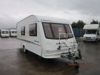 2003 COMPASS CORONA 524 4 BERTH CARAVAN WITH END WASHROOM ANDERSON CARAVAN AND MOTORHOME SALES