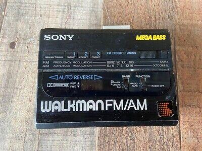 Vintage Sony Walkman Mega Bass WM-AF64 Cassette Player AM/FM Radio For Parts