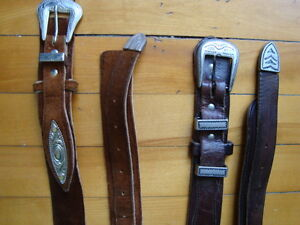 MEN'S WESTERN LEATHER BELTS BLACK&BROWN SIZE 36-38 West Island Greater Montréal image 8