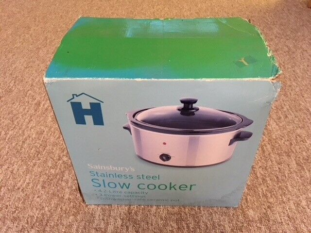 Brand New Slow Cooker Stainless Steel 4.2 litre capacity