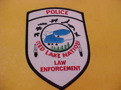 MINNESOTA RED LAKE POLICE PATCH SHOULDER SIZE UNUSED
