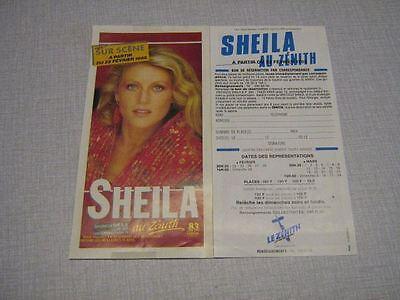 SHEILA BON DE RESERVATION CONCERT 1985 (2)
