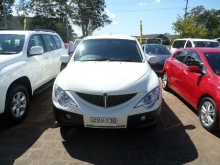 2010 Ssangyong Actyon 100 Series MY08 XDi White Automatic Wagon Port Macquarie 2444 Port Macquarie City Preview
