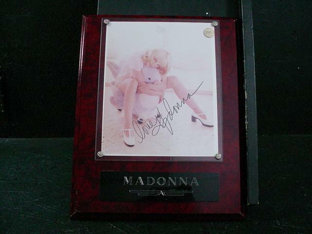 NobleSpirit {3970}Madonna Autograph on 8x10 Photo, Mounted on Wood