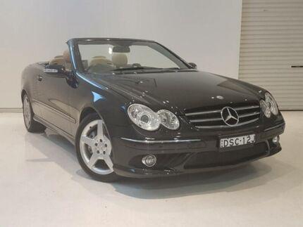 2009 Mercedes-Benz CLK200K C209 07 Upgrade Avantgarde Black 5 Speed Auto Touchshift Cabriolet