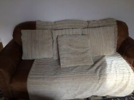 Faux Fur Throw and four cushions