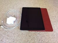 iPAD AIR/ 16GB/ WIFI +CELLULAR/ UNLOCKED/ MINT CONDITION/ WITH CHARGER AND CASE/ SPACE GREY