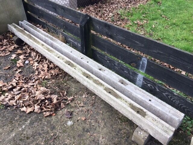 Concrete Slotted Fence Posts X 2 In Christchurch Dorset