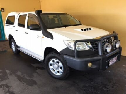 2012 Toyota Hilux KUN26R MY12 SR (4x4) White 4 Speed Automatic Dual Cab Pickup
