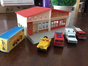 matchbox 1963 fire station plus vehicles