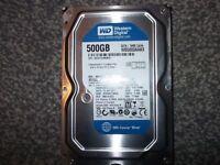 wd 500gb blue sata 3.5 hard drive no texts plz.