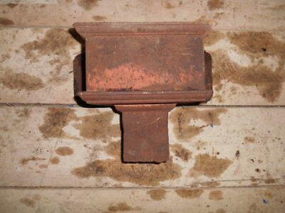 Antique Victorian cast iron decorative rainwater hopper 3 x 4 inch outlet  H12