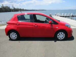 2013 Toyota Yaris NCP130R YR Red 4 Speed Automatic Hatchback Horsley Wollongong Area Preview