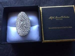 SWAROVSKI Crystals - 5th Ave Collection - The Sparkler - Ring Ferryden Park Port Adelaide Area Preview