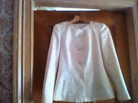 Marks and Spencer gold patterned and gold coloured jacket, AS NEW - size 8 - see ad for measurements