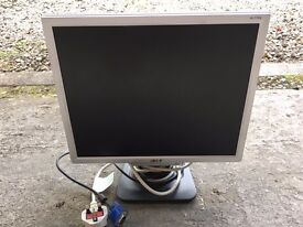 Working 17 inch ACER LCD Monitor.