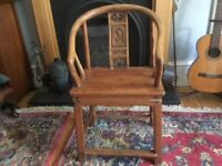 Beautifully carved Chinese chair