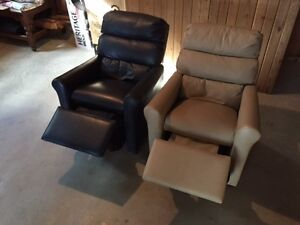 Childs Lazy-Boy Leather Chairs
