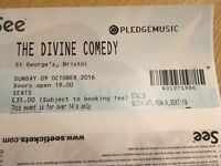 4 * Divine Comedy tickets - Bristol St George's 9th October