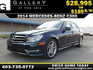 2014 Mercedes C300 4Matic $189 bi-weekly APPLY NOW DRIVE NOW