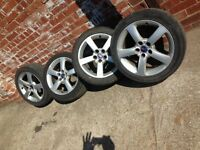 Does your Saab 9-3 need tyres soon? 225/45/17. Set alloys cheap with mint tyres. £99
