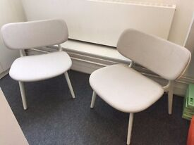£75 White/Grey Large Lounge Chairs