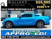 2012 Ford Mustang GT $209 bi-weekly APPLY NOW DRIVE NOW