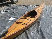 KAYAK - Handcrafted Cedar Strip Kayak