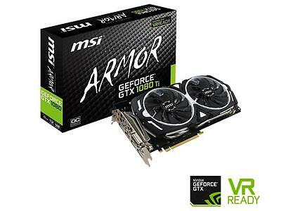 MSI GeForce GTX 1080 Ti DirectX 12 GeForce GTX 1080 TI ARMOR 11G OC 11GB 352-Bit