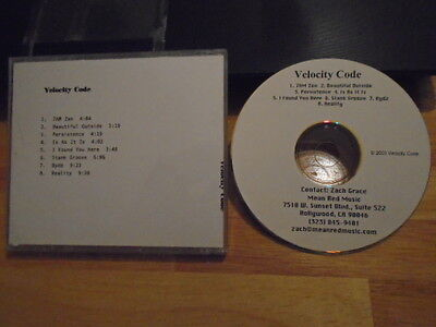 RARE PROMO Velocity Code DEMO CD s/t house trance electronic Beautiful Outside